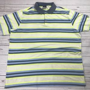 Nike Golf Dri-fit striped Polo Sz XXL 2X